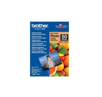 Brother BP71GP50 Premium Glossy Photo Paper papier photos Blanc