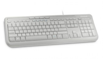 Clavier Microsoft Wired Keyboard 600 - Blanc