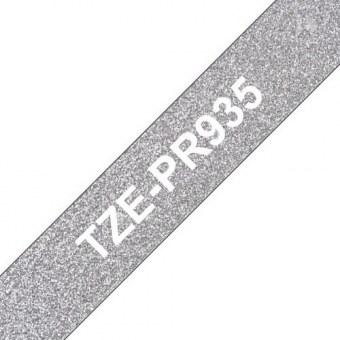 Brother TZe-PR935 ruban d'étiquette Blanc sur argent
